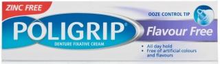 Poligrip Flavour Free Denture Fixative Cream